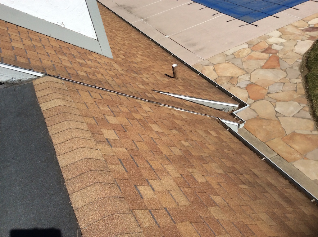 Oak terrace roof gutter topper project dennison for Roof lines