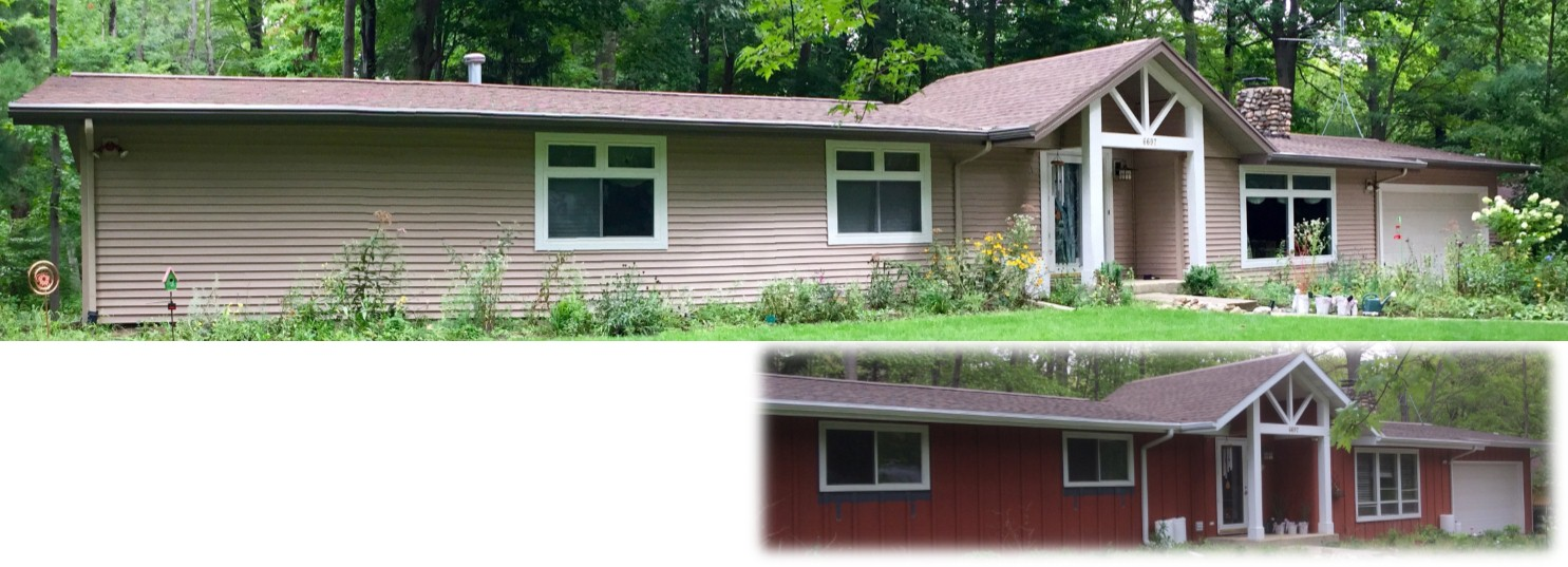 Sawyer Michigan Siding Soffit Fascia Seamless Gutter