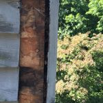 Water Staining from Leak at top of Chimney