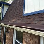 New Seamless Gutters with Royal Brown Gutter Topper