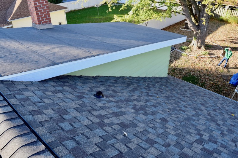 Baroda Michigan Roof Project Dennison Exterior Solutions Gutter Topper