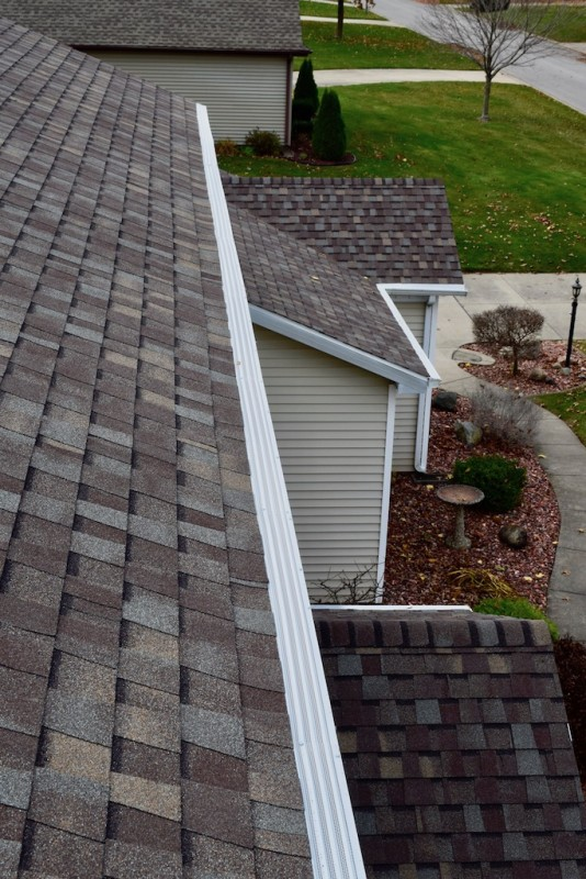 Granger Indiana Roof Solution Gutter Cover Project Dennison Exterior Solutions