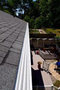 Dennison Exterior Solutions & Gutter Topperwith white Solution Gutter Covers