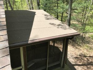 Dennison Exterior Solutions & Gutter Topper: CertainTeed LandMark Pro Heather Blend Shingles with Royal Brown Needle Guard