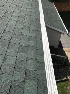 Dennison Exterior Solutions & Gutter Topper: CertainTeed LandMark Hunter Green 30 Year Shingles with White Solution Gutter Guards