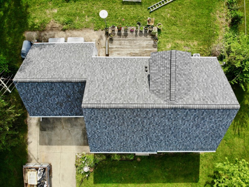 Berrien Springs Michigan Roof Solution Project Dennison Exterior Solutions Gutter Topper